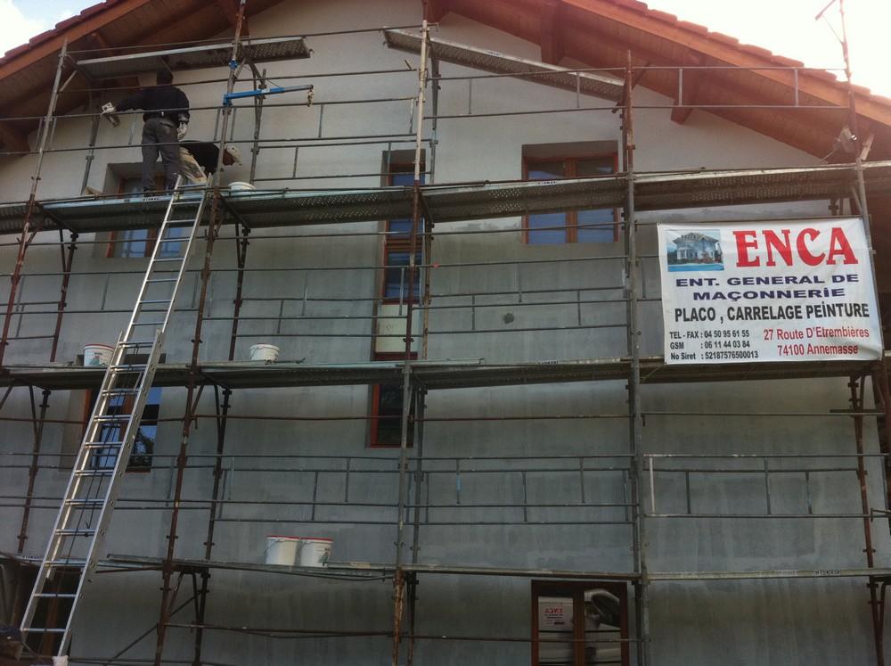 Rénovation façade Crépi Peinture Fessy